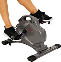 Sunny Health & Fitness Unisex Adult SF-B0418 Magnetic Mini Exercise Bike - Grey, One Size