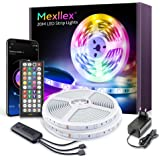 LED Strip 20m,Bluetooth LED Streifen,RGB Farbwechsel LED Lichterkette 20M mit Steuerbar via App, 16 Mio. Farben, Fernbedienun