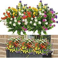 10 Pezzi Fiori Finti per la Decorazione, 5 Colori Fiori Artificiali Resistenti ai Raggi UV All'aperto, Bouquet di…