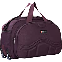 Zion bag Waterproof Polyester Lightweight 60 L Luggage Purple Travel Duffel Bag with 2 Wheels