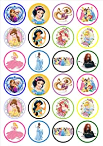 24 Christmas Mix #1 PRECUT Edible Cupcake Toppers wafer card disc cake decorations Stand UpLie Flat