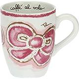 THUN - Mug Decorata con Fiocco - Tazza Rosa in Porcellana - Mug per tè, caffè, Tisana, Latte e Ciocolata Calda - Linea Happy