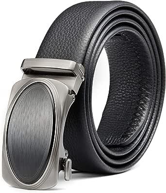 con fibbia automatica in vera pelle Cintura a cricchetto regolabile da 35 mm BOSS Aron da taglio per adattarla!