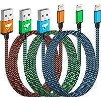 iPhone Ladekabel, Lightning Kabel 3Pack 2M Schnellladekabel iPhone MFi Zertifiziert iPhone Kabel Nylon Langes USB…
