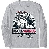 Unclesaurus T rex Dinosaur Men Uncle Saurus Family Matching Manche Longue