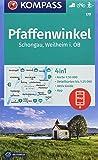Pfaffenwinkel, Schongau, Weilheim i. OB: 4in1 Wanderkarte 1:50000 mit Aktiv Guide und Detailkarten inklusive Karte zur offline Verwendung in der ... Langlaufen. (KOMPASS-Wanderkarten, Band 179)