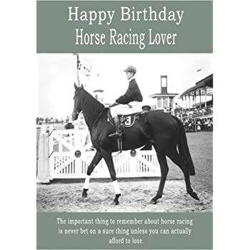 Horse Racing Happy Birthday Card