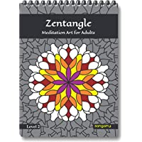 Zentangle Meditation Art Coloring Book for Adults - Level 2