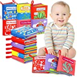 ANEAR Cloth Books Baby, My First Non-Toxic Soft Cloth Book, Educational Toys Gifts for First Year 1 Year Old Babies Infants,