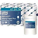 Tork Reflex 473474 Papier d'essuyage multi-usages Advanced, compatible avec le système M3 / 2 plis - 67m x 19,4cm - lot de 9