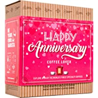 Happy Anniversary for Coffee Lovers - Gift Set with 5 Unique Coffee Bags with Premium & Organic Ground Coffee from…