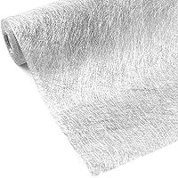 WELTRXE Chemin de Table en Tissu Non-Tissé Décoratif Argenté Métallisé, Courroie Décoration de Table Elégante 23cm pour…