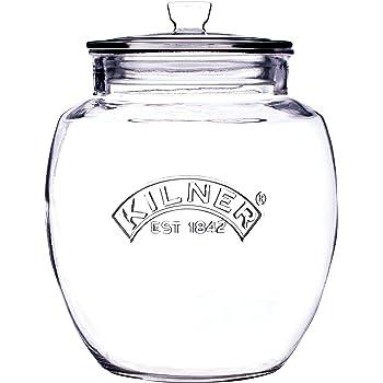 Glas mit Flip Top Deckel Spaghettidose Kilner Vorratsdose 2,2 Liter facettiertes Glas Spaghettiglas