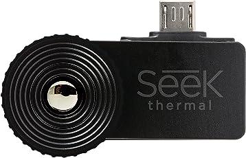 Seek Thermal XR Fotocamera per Immagini Termiche ad Ampio Raggio con Connettore Micro USB e Custodia Resistente all'Acqua per Dispositivi Android - Nero