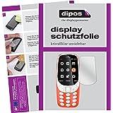 dipos I 2X skyddsfolie klar kompatibel med Nokia 3310 folie displayskyddsfolie