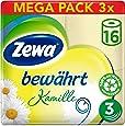 Zewa Toilettenpapier trocken bewährt Kamille, 3-lagig, 3er Pack (3 x 16 Stück)