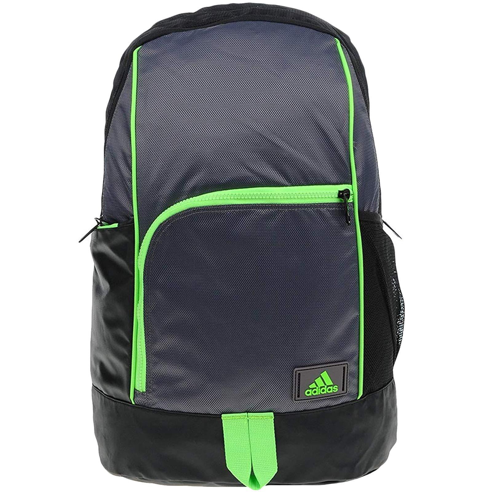 2dc0d0cc867 Adidas NGA 1.0 M Backpack Sport Hiking Training Laptop Reflective Outdoor  Black Grey