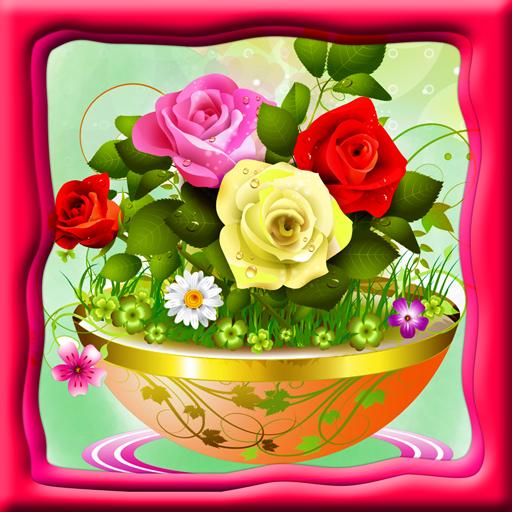 Blumen-Malbuch