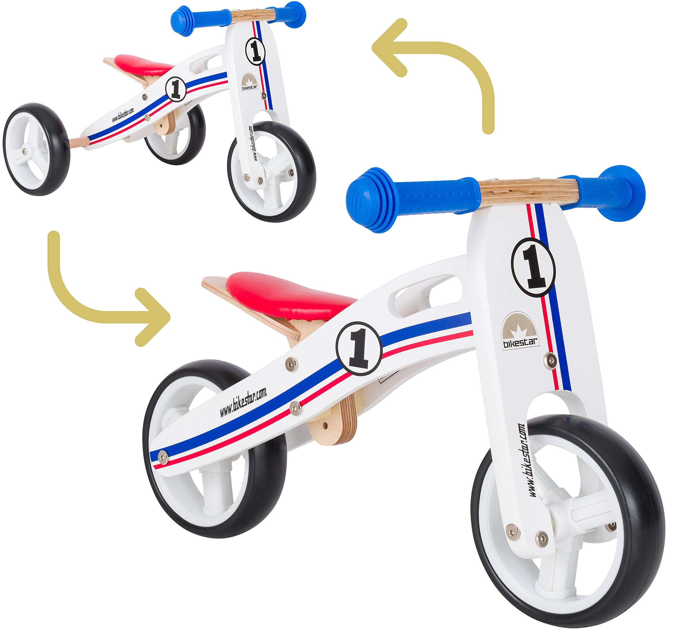 Bikestar Bicicletta Senza Pedali E Triciclo 2 In 1 In Legno Per Bambino Et Bambina Da 18 Mesi Bici Senza Pedali Bambini 7 Pollici Giochi