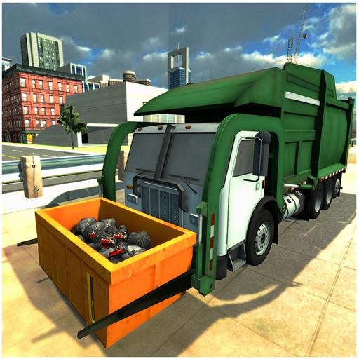 Stadt-Müll LKW-Treiber-Simulator (Glatte Treiber)