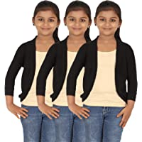 Belonas Girl's Viscose 3/4th Sleeve Short Shrug Combo