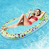 Jojoin Wasser Hängematte, 178CM * 94CM Aufblasbare Pool Liege Float Schwimmmatte mit Exquisitem Fruchtmuster und Wassermelone
