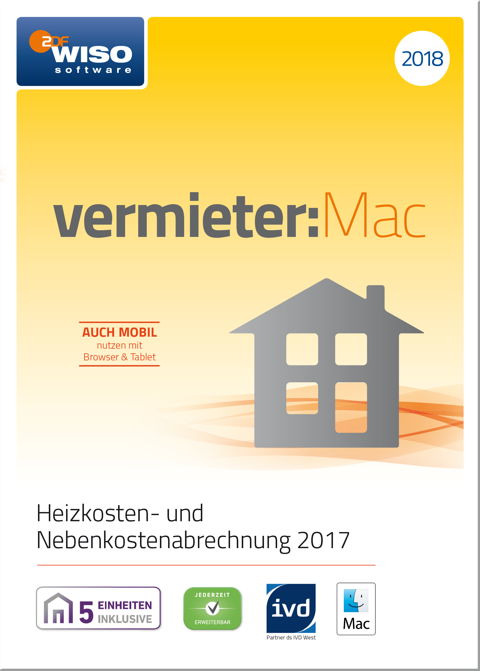 WISO vermieter:Mac 2018 - Heizkosten- und Nebenkostenabrechnung 2017 [Online Code]