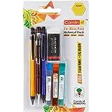 Camlin Kokuyo Tri-Mech Pencil - Set of 3 with Leads and Xl Eraser