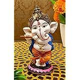 Karigaari India Handcrafted Polyresin Eco Friendly Lord Ganesha Ganpati Idol Figurine   Lord Ganesha Statue for Home Decorati