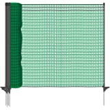 VOSS.farming classic premium omheiningsnet 20 meter, 80cm, donker groen, 12 palen