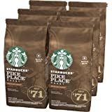 Starbucks Pike Place Chicchi Interi di Caffè Dalla Tostatura Media 6 Sacchetti da 200 g