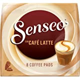 Senseo Café Latte, Nouvelle Recette, Lot de 10, 10 x 8 Dosettes de Café