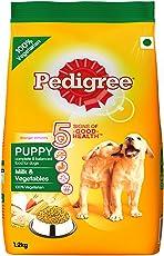 Pedigree Dry Dog Food, Milk & Vegetables for Puppy – 1.2 kg