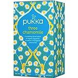 Pukka Three Chamomile, Organic Herbal Tea (4 Pack, 80 Tea bags)
