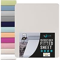 Dreamzie - Drap Housse 80 x 190/200 cm (100% Polyester) - Beige Bureau - Certifié Oeko TEX sans Produits Chimiques…