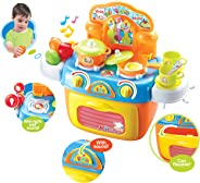 Popsugar Kitchen Set with Light, Music, Storage Case and Other Accessories for Kids,