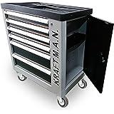 Carro de taller profesional con herramientas 345pzs incorporadas, con ruedas, armario lateral, cierre de seguridad en cada ca