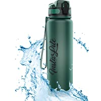 InstaLite 1 Litre BPA Free Tritan Sports/Gym Water Bottle with Time Marker, Fruit Infuser Screen & Protein Shaker…