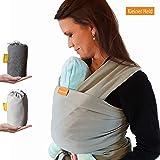 Kleiner Held Babytragetuch hochwertiges elastisches Baby Tragetuch Babytrage für Früh- und Neugeborene Babys ab Geburt bis 15 kg inkl. Wickelanleitung und Aufbewahrungstasche