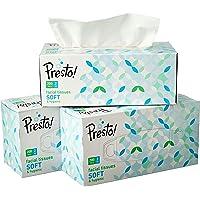 Amazon Brand - Presto! 2 Ply Facial Tissue Carton Box - 200 Pulls (Pack of 3)