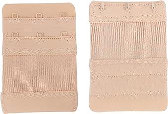 3 Pcs. Bra extender bra extensions bra straps for ladies girls women 3 hooks, Skin color