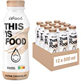 YFood Chocolate | Batido Sustitutivo | Sustitutivo de comida sin lactosa ni gluten | 33g de proteínas, 26 vitaminas y mineral