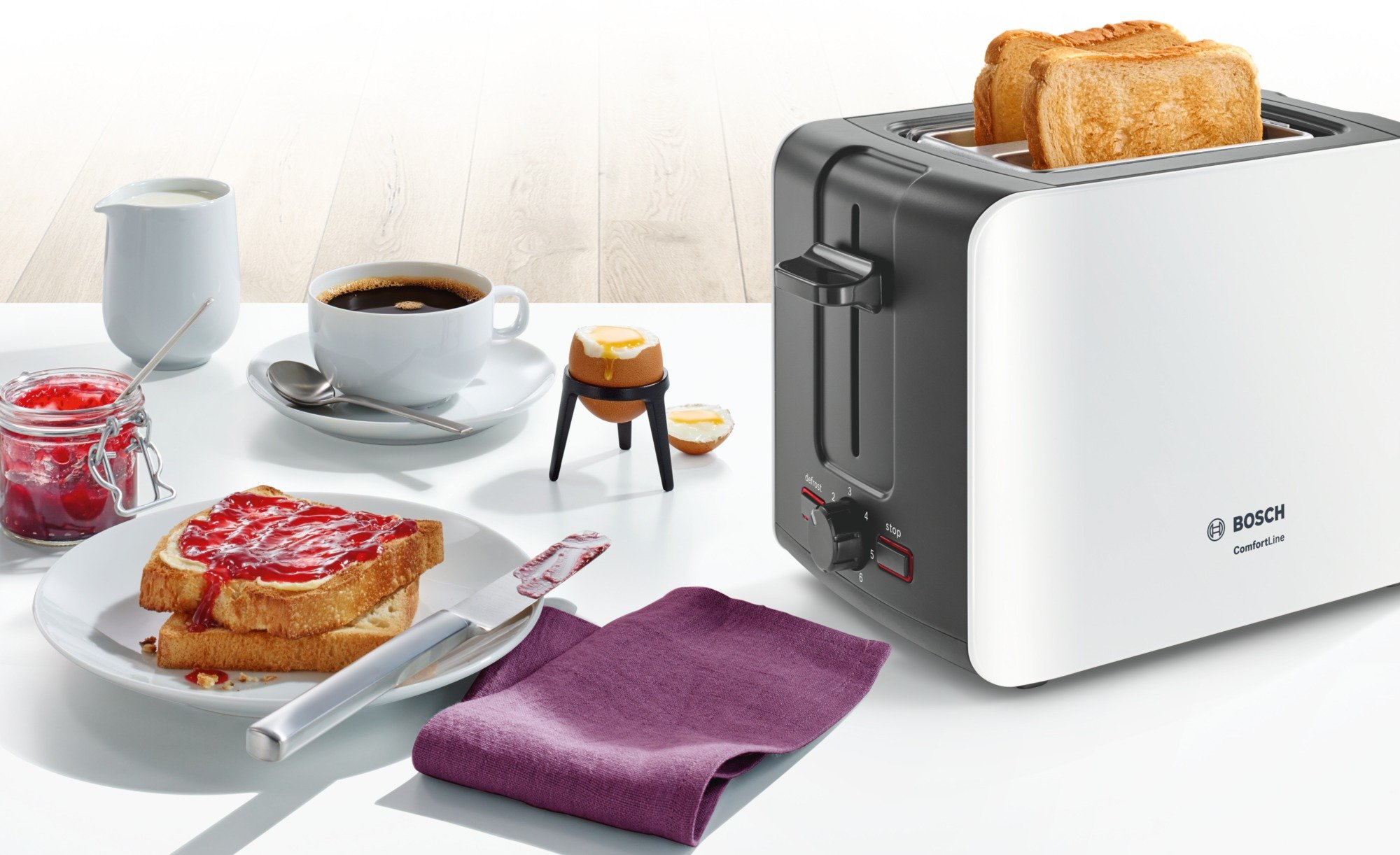 Bosch-TAT6A111-Kompakt-Toaster-ComfortLine-automatische-Brotzentrierung-Auftaufunktion-1090-W-weidunkelgrau