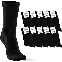 Calzini Uomo Donna 10 Paia - Cotone e Neri + Marcature Colorate per Misura più Semplice Ordinare | Comfort Calze…