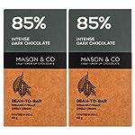 Mason & Co. Intense Dark Organic Chocolate Bar 70 Grams (Pack Of 2)