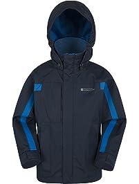 Mountain Warehouse Chaqueta Samson para niños - Puños ajustables, bolsillos, chaqueta con capucha ajustable