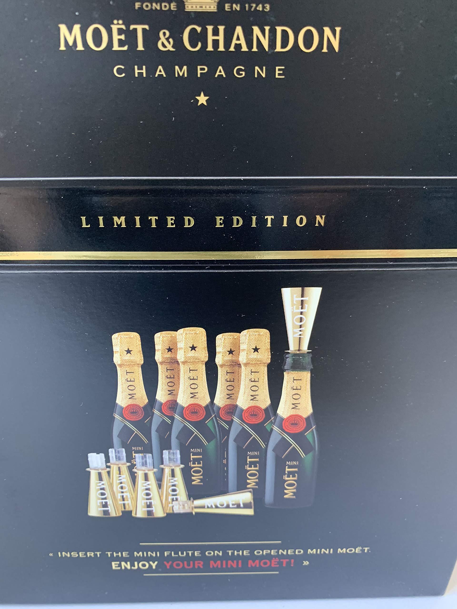 6x-Moet-Chandon-Brut-02l-Champagner-Piccolo-Flasche-inkl-6-Trinkaufstze-Six-Pack-12-Vol