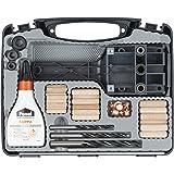 wolfcraft Universal-Meisterdübler-Set 4645000 | 78-teiliges Komplett-Starter-Set zur Herstellung von sauberen Holzverbindunge