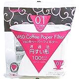 Hario V60 Koffiefilter, Maat 01, 100 stuks, Wit