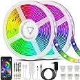 Bonve Pet 20M LED Strip RGB 5050, Bestuurbaar via APP en Afstandsbediening, Met Muziekmodus, Tijdmodus,28 Stijlen,Voor tslaap